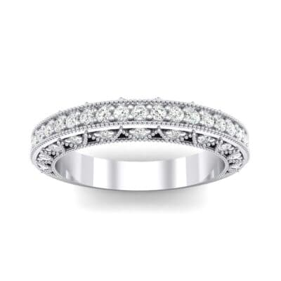 Three-Sided Filigree Crystal Ring (0.39 CTW) Top Dynamic View