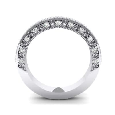 Three-Sided Filigree Crystal Ring (0.39 CTW) Side View