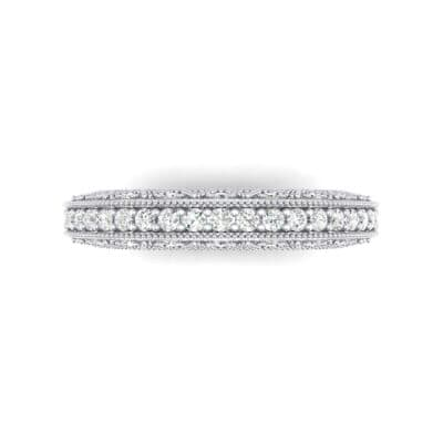Three-Sided Filigree Crystal Ring (0.39 CTW) Top Flat View