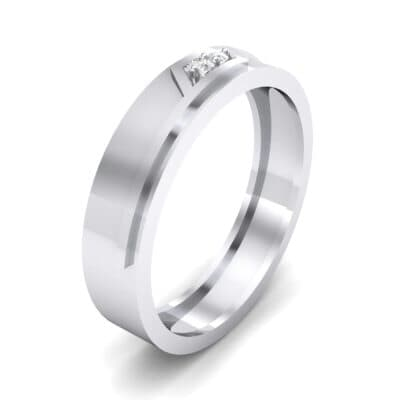 Pave Rhombus Crystal Ring (0.03 CTW) Perspective View