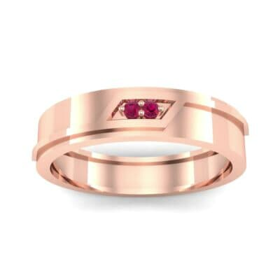 Pave Rhombus Ruby Ring (0.03 CTW) Top Dynamic View