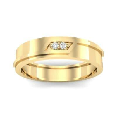 Pave Rhombus Diamond Ring (0.03 CTW) Top Dynamic View