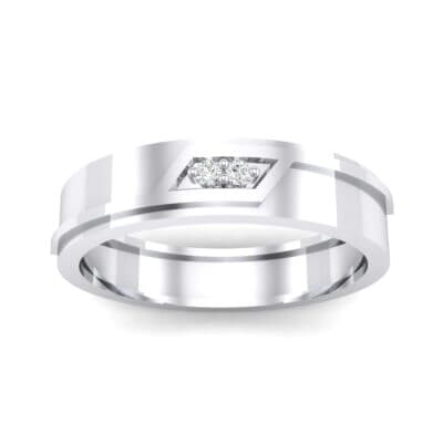 Pave Rhombus Crystal Ring (0.03 CTW) Top Dynamic View