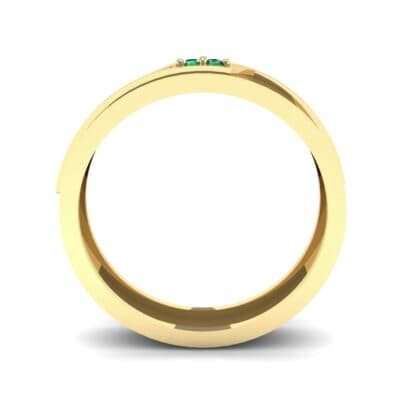 Pave Rhombus Emerald Ring (0.03 CTW) Side View