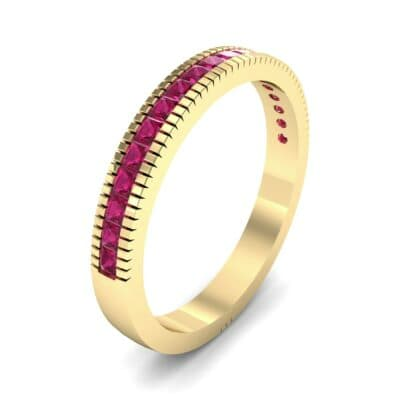 Channel-Set Toothed Rim Ruby Ring (0.29 CTW)
