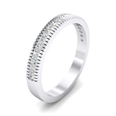 Channel-Set Toothed Rim Crystal Ring (0.29 CTW) Perspective View