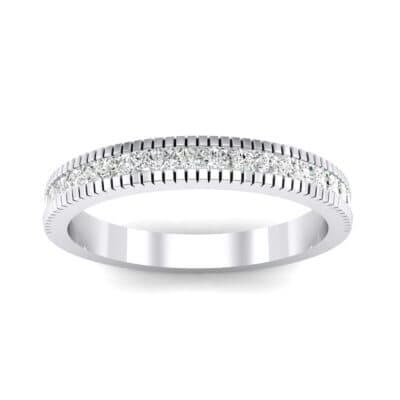 Channel-Set Toothed Rim Crystal Ring (0.29 CTW) Top Dynamic View