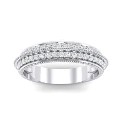 Knife-Edge Pave Milgrain Crystal Ring (0.37 CTW) Top Dynamic View