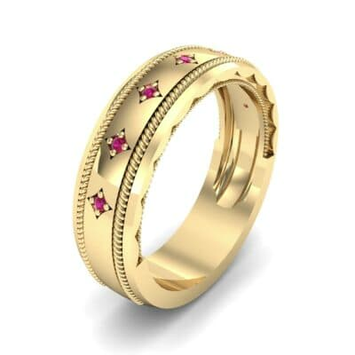 Starlight Rope Ruby Ring (0.05 CTW)