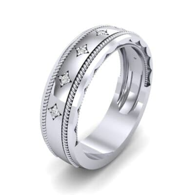 Starlight Rope Diamond Ring (0.05 CTW) Perspective View