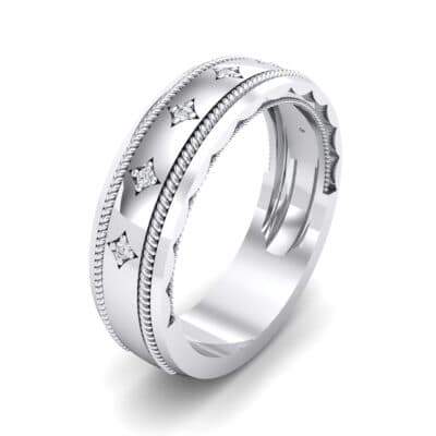 Starlight Rope Crystal Ring (0.05 CTW) Perspective View