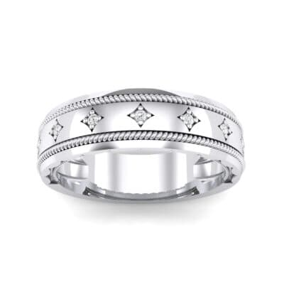 Starlight Rope Crystal Ring (0.05 CTW) Top Dynamic View