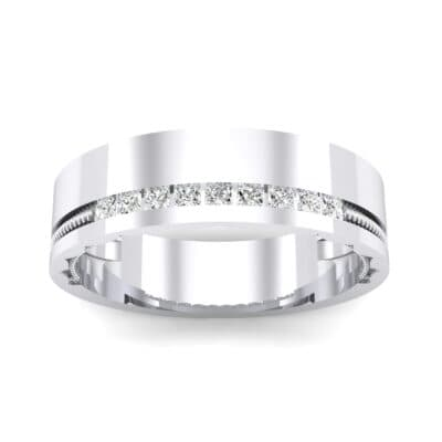 Demilune Rope Inlay Crystal Ring (0.14 CTW) Top Dynamic View