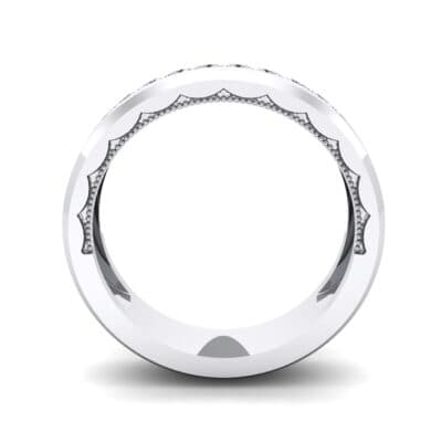 Beveled Edge Demilune Crystal Ring (0.18 CTW) Side View