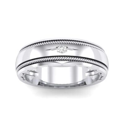 North Star Rope Crystal Ring (0.03 CTW) Top Dynamic View