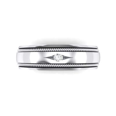 North Star Rope Crystal Ring (0.03 CTW) Top Flat View