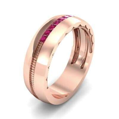 Demilune Channel Ruby Ring (0.14 CTW)