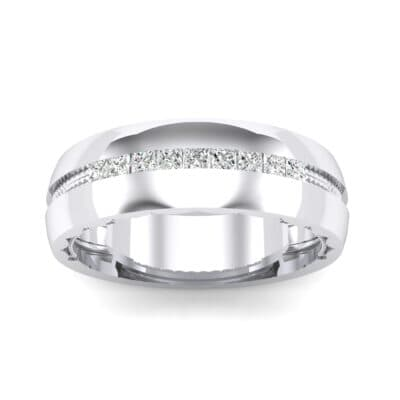 Demilune Channel Crystal Ring (0.14 CTW) Top Dynamic View
