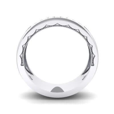 Demilune Channel Crystal Ring (0.14 CTW) Side View