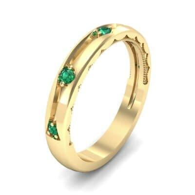 Demilune Islet Emerald Ring (0.08 CTW)