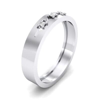 Cut-Out Three-Stone Crystal Ring (0.05 CTW) Perspective View