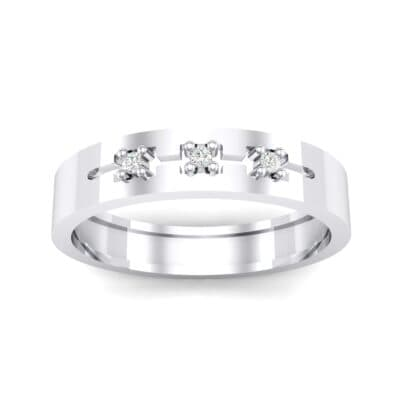 Cut-Out Three-Stone Crystal Ring (0.05 CTW) Top Dynamic View