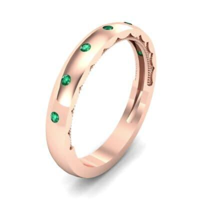Demilune Bezel-Set Emerald Ring (0.11 CTW)