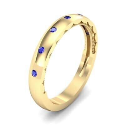 Demilune Bezel-Set Blue Sapphire Ring (0.11 CTW)