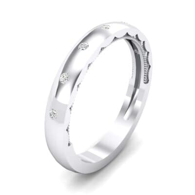 Demilune Bezel-Set Crystal Ring (0.11 CTW) Perspective View