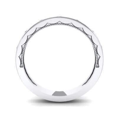 Demilune Bezel-Set Crystal Ring (0.11 CTW) Side View