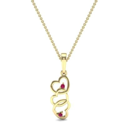 Falling Hearts Ruby Pendant (0.03 CTW) Top Dynamic View