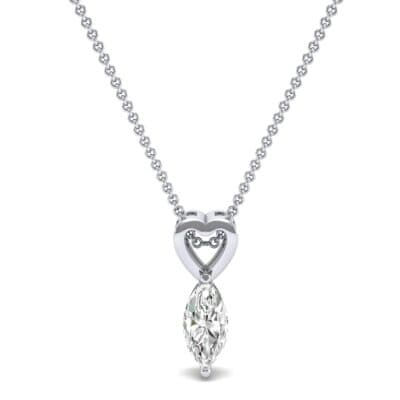 Marquise Heart Diamond Pendant (0.5 CTW) Top Dynamic View