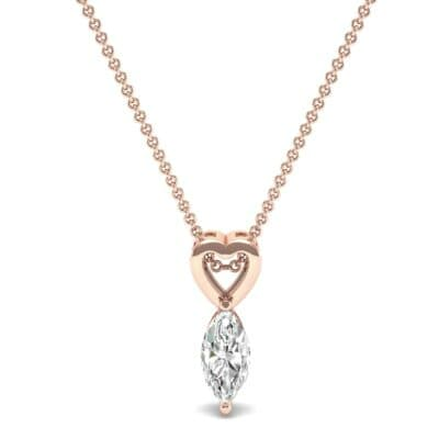 Marquise Heart Diamond Pendant (0.5 CTW) Top Dynamic View