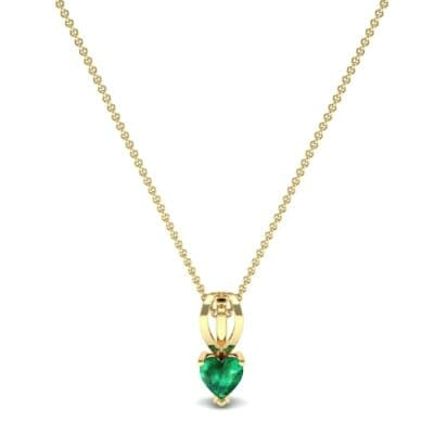 Grace Heart-Shaped Emerald Pendant (0.5 CTW) Perspective View