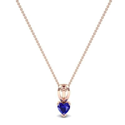 Grace Heart-Shaped Blue Sapphire Pendant (0.5 CTW) Perspective View