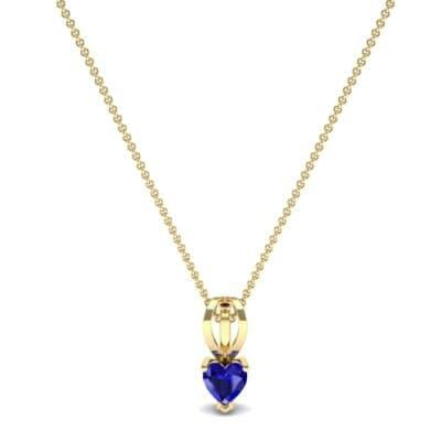 Grace Heart-Shaped Blue Sapphire Pendant (0.5 CTW) Perspective View