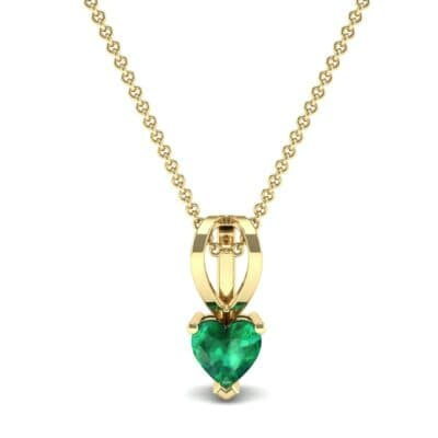Grace Heart-Shaped Emerald Pendant (0.5 CTW) Top Dynamic View