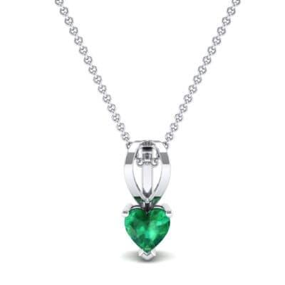 Grace Heart-Shaped Emerald Pendant (0.5 CTW) Top Dynamic View