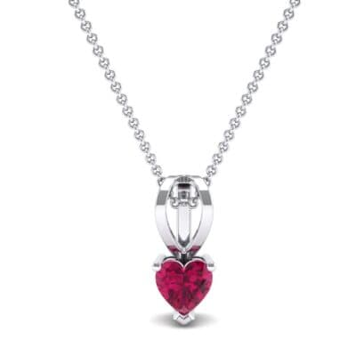 Grace Heart-Shaped Ruby Pendant (0.5 CTW) Top Dynamic View
