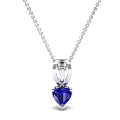 Grace Heart-Shaped Blue Sapphire Pendant (0.5 CTW) Top Dynamic View