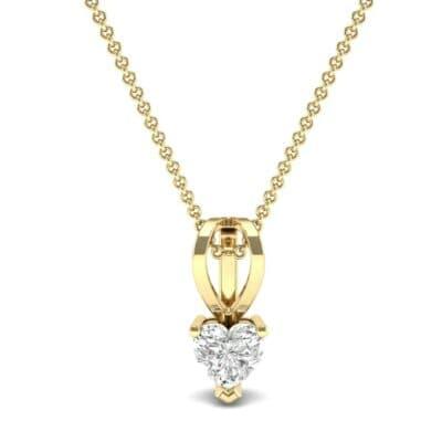 Grace Heart-Shaped Diamond Pendant (0.5 CTW) Top Dynamic View