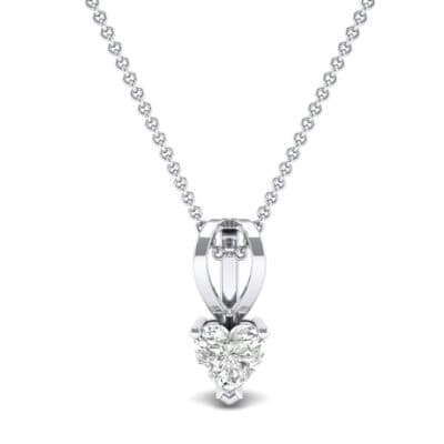 Grace Heart-Shaped Diamond Pendant (0.5 CTW) Top Dynamic View