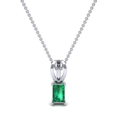 Grace Radiant-Cut Emerald Pendant (0.5 CTW) Top Dynamic View