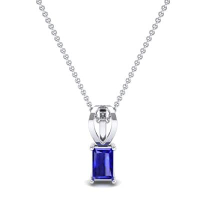 Grace Radiant-Cut Blue Sapphire Pendant (0.5 CTW) Top Dynamic View