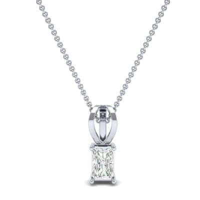 Grace Radiant-Cut Diamond Pendant (0.5 CTW) Top Dynamic View