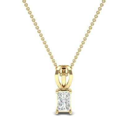 Grace Radiant-Cut Diamond Pendant (0.5 CTW) Top Dynamic View