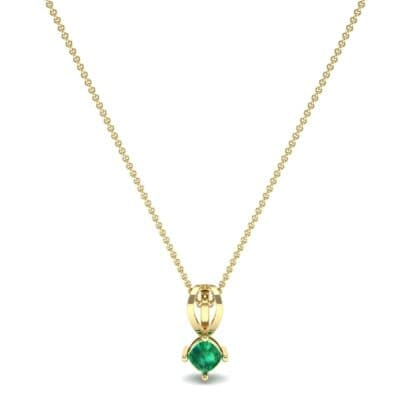 Grace Cushion-Cut Emerald Pendant (0.47 CTW) Perspective View
