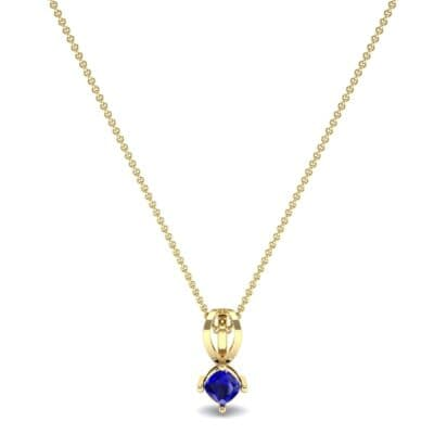Grace Cushion-Cut Blue Sapphire Pendant (0.47 CTW) Perspective View