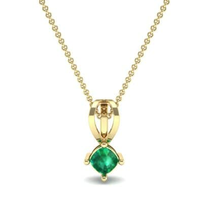 Grace Cushion-Cut Emerald Pendant (0.47 CTW) Top Dynamic View