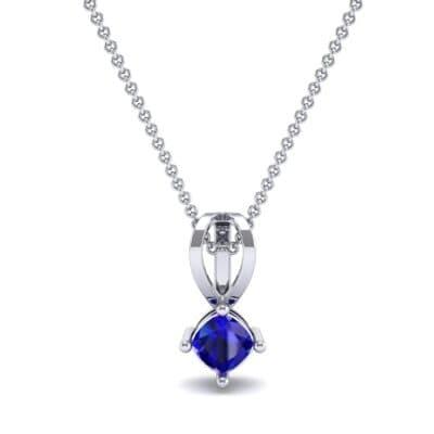 Grace Cushion-Cut Blue Sapphire Pendant (0.47 CTW) Top Dynamic View